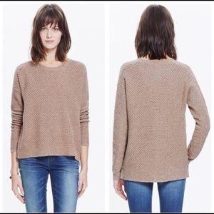 Madewell Landmark Texture Sweater in Marled Umber